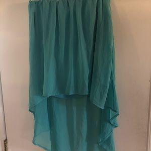 Teal high-low skirt XL